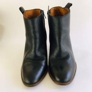 Madewell Heel Black Leather Ankle Booties 8